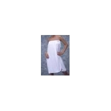 Terry Towel Body Wrap Gown - WHITE