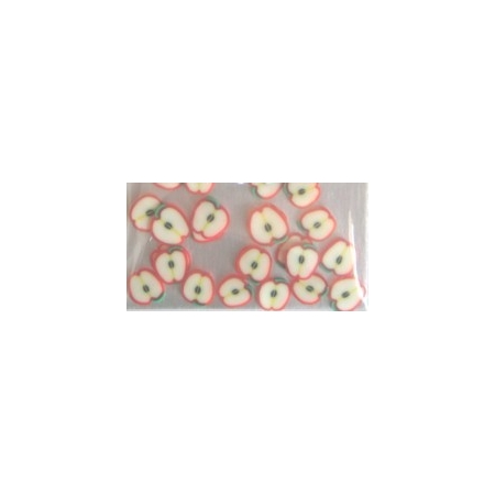 Nail Art 3D Fruit Apple PK/24pc's