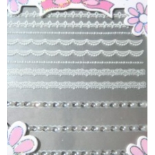 3D Nail Sticker Lace with Gems #03